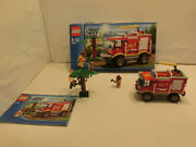 Go Lego 4208 Fire Brigade Crawler With Boxed And Ba 100 Complete Used