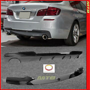 Rear Diffuser + Front Lip For Bmw F10 5 Series 2011-2016 Front Gloss Black M.p