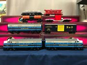 Mth Dap Baltimore And Ohio F-3 Aba Diesel 5 Car Freight Set 20-80004a Protosound 2