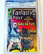 Fantastic Four 48 Mar 1966 Marvel Cgc 3.5 🔥1st App. Of The Silver Surfer 🔥
