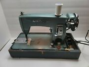 Vintage 1950's Brother Webster Monarch Case Sewing Machine Deluxe For Parts
