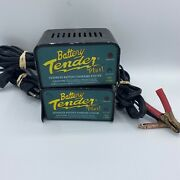 Lot Of 2 Deltran Battery Tender Plus 12v 1.25a Automatic Battery Charger