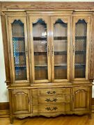 Midcentury Modern French Provincial China Cabinet - Thomasville Furniture Tablea