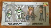 Fedex Ship Disney Limited Edition 300 Toy Story Ornament Set Unopened