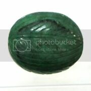 192 Carat Huge Natural Emerald Carving Faceted Collectors Gem 32x40x18 Mm