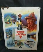 Vintage Old 'standard' Petromax Germany Ad Enamel England Sign Board Collectible