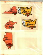 Nice Set 15 Different States Safety Consol Coal Co. Coal Mining Sticker 389