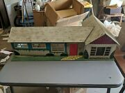 Marx Lithograph Vtg Ranch House Toy