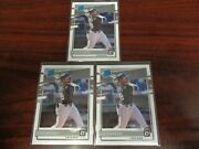 2020 Optic Luis Robert 62 Rated Rookie Card Lot Of 3-white Sox