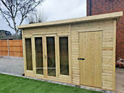 Summerhouse Combi Shed Heavy Duty Workshop Pent Delivery Lead Time 8-14 Weeks