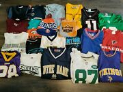 Lot Of 20 Menand039s Mixed T-shirts And Jerseys Nike Nfl Reebok Sports Different Sizes