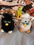 Furby 2 Toy Black And Pink Pair Collectibles Rare