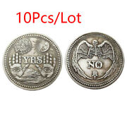 10pcs/lot Yes Or No Skull Souvenir Coin Challenge Commemorative Collectible Coin