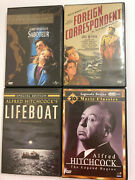 Alfred Hitchock Dvd Lot - Foreign Correspondent - Saboteur - Lifeboat + More