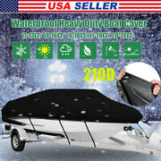 11-13 14-16 17-19 20-22 Heavy Duty Boat Cover For V-hulltri-hullrunabout Boats