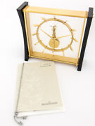 Rare Jaeger Lecoultre 8-day Inline Movement Table Desk Clock 60and039s Papers
