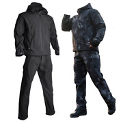 Men Airsoft Tactical Jackets Soft Shell Jacket Military Army Suit Jacket+pants