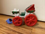 Fisher Price Little People Christmas Tree Village Lighting Carriage Sleigh Cart