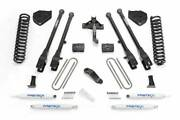 Fabtech 2017-2019 Fits Ford F-250 F-350 4wd Dsl 6 4link System Coils Perf Shock