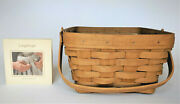Longaberger Large Berry Basket And Protector New