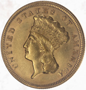 1856 Gold 3 Piece - Au About Uncirculated - Nice Original Coin No Major Issues