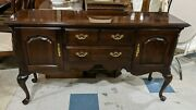 Thomasville Collectors Cherry Queen Anne Style Sideboard Server
