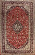 Vintage Floral Traditional Area Rug Hand-knotted Wool Palace Size Carpet 11x16
