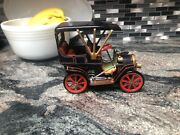 Antique Vintage Lever Action Tin Toy Car By Modern Toys Japan Patent No. 27579