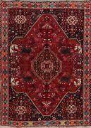 Antique Tribal Geometric Animal Design Area Rug Traditional Hand-knotted 6x8 Ft