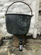 Huge Antique Early 19th Century Georgian Industrial Copper Cauldron Cooking Pot