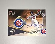 2017 Topps Now Nlcs Javier Baez 5/5 Auto Game Used Base Relic Chicago Cubs Javy