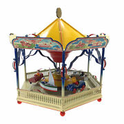 Vintage Tucher And Walther German Tin Merry Go Round Musical Carousel Large