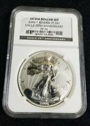 2006 P Reverse Proof American Silver Eagle Ngc Pf 70 Silver Dollar Set