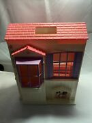 Project 1996 Mattel Barbie Folding Pretty Pink Doll House Home W 3 Rooms