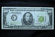 1934 500 Federal Reserve Note ✪ Xf Extra Fine ✪ Lgs Light Green Seal ◢trusted◣