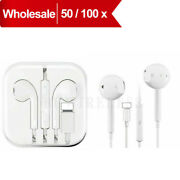 Lot Wired Earphones Bluetooth With Microphone Iphone7 To 12 Wholesale 50/100pack