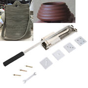 4-layer Mold Ceramic Soft Clay Extrusion Mud Machine Tool Silver Stainless Steel