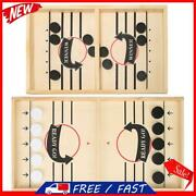 Family Table Ice Hockey Game Catapult Chess Wood Fast Sling Puck Game Toy S1