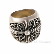 No.17 Chrome Hearts Ring Classic Oval Silver 925 47.0g Popularity Secondhand