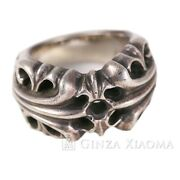 No.9 Chrome Hearts Ring Silver 925 18.9g Popularity Secondhand