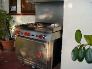 Wolf Stainless Steel Gas Stove With 4 Burners And Original Hardware