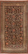 Antique Khotan Chinese Hand-knotted Oriental Area Rug Geometric Wool Carpet 4x8