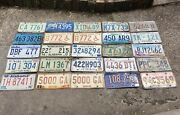 Vintage United States License Plate Collection Lot Of 25 Metal Auto Tag Old