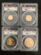 2018 Gold Eagle 4 Coin Set - Pcgs Ms70 First Day Of Issue Label Mercanti