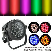 Waterproof Rgbwa 5in1 18led15w Stage Par Light Dmx512 Color Mixing Washer Lamp