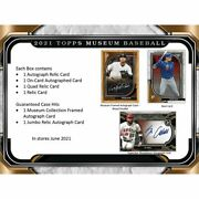 2021 Topps Museum Collection Baseball Hobby Box Presell 06/16