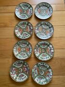 Antique Chinese Porcelain Famille Plates Each Plate Is Approx 9.5 Diameter