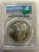 1897 1 Morgan Silver Dollar Pcgs Ms 66+ Cac Pcgs Price Guide In 67 At 6,500