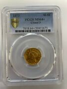 1873 2.50 Gold Liberty Closed 3 Pcgs Ms 64+