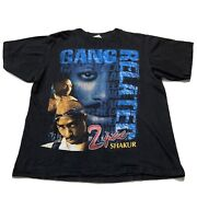 Vintage Tupac 2pac Rap T Shirt Gang Related Rare Bay Club Black Xl 1990s Tee